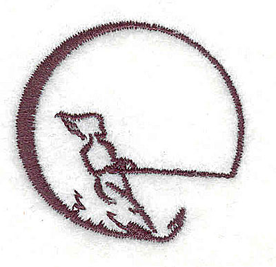 Embroidery Design: Water skier 1.56w X 1.50h