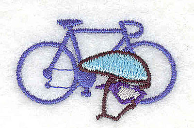 Embroidery Design: Bicycle and helmet 1.50w X 1.00h