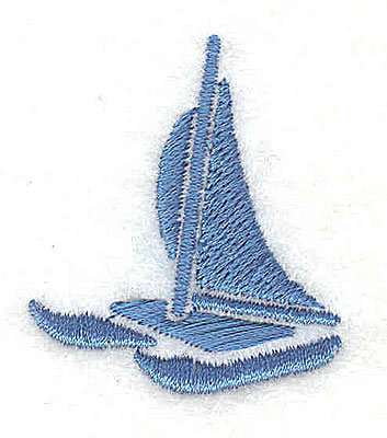 Embroidery Design: Catamaran 1.94w X 1.50h