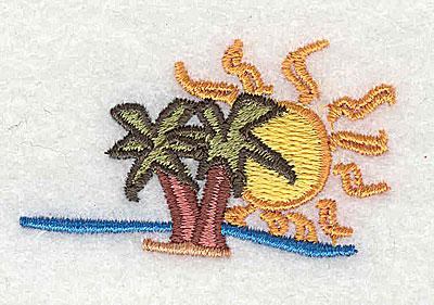 Embroidery Design: Desert Isle 2.13w X 1.25h