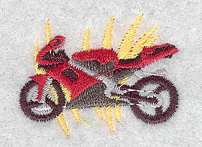 Embroidery Design: Motorcycle 1.50w X 1.19h