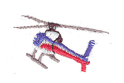 Embroidery Design: Helicopter 1.44w X 0.88h