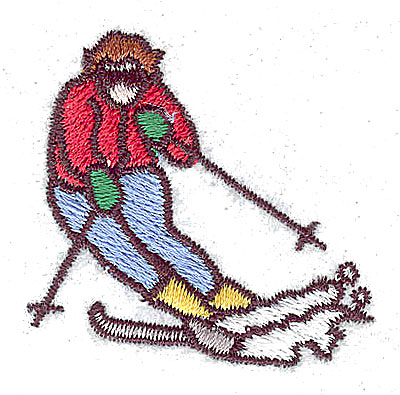 Embroidery Design: Skier 1.56w X 1.50h