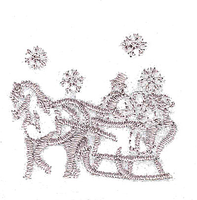 Embroidery Design: Winter sleigh ride 1.44w X 1.31h
