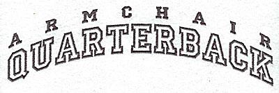 Embroidery Design: American Quarterback 2.38w X 8.00h