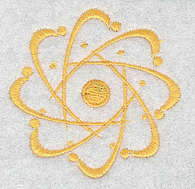 Embroidery Design: Atomic Symbol 2.19w X 2.19h