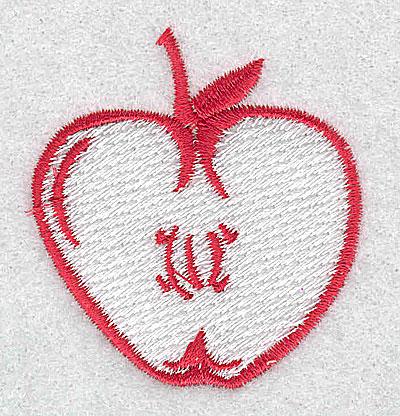 Embroidery Design: Apple 1.94w X 2.06h