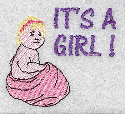 Embroidery Design: It's A Girl 2.38w X 2.19h