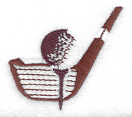 Embroidery Design: Golf ball tee and club 2.00w X 1.88h