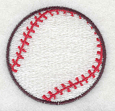 Embroidery Design: Baseball 1.94w X 2.00h