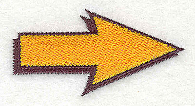 Embroidery Design: Arrow 2.44w X 1.25h