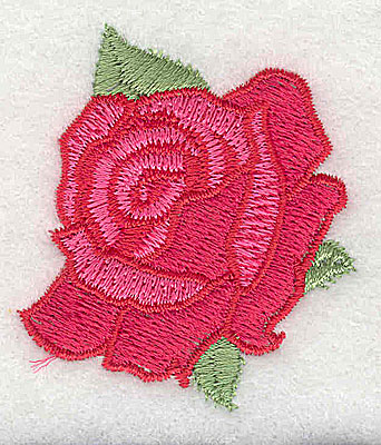 Embroidery Design: Rose 1.81w X 2.13h