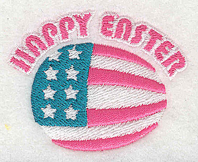 Embroidery Design: Happy Easter American egg 2.50w X 1.94h