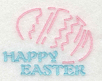 Embroidery Design: Happy Easter 2.38w X 1.81h