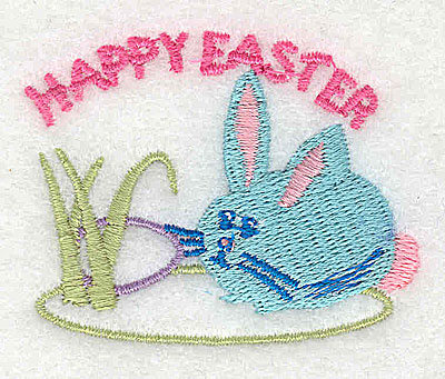 Embroidery Design: Happy Easter 2.19w X 1.75h