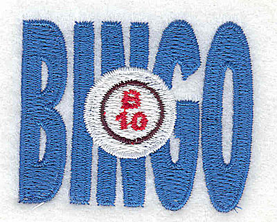 Embroidery Design: Bingo  1.94w X 1.56h