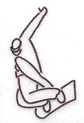 Embroidery Design: Snowboarder 1.75w X 3.00h