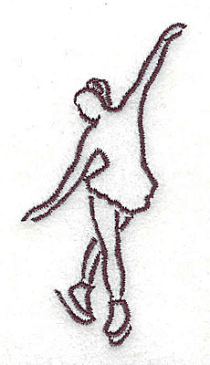 Embroidery Design: Figure skater 1.38w X 2.75h