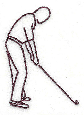 Embroidery Design: Golfer 2.25w X 3.00h