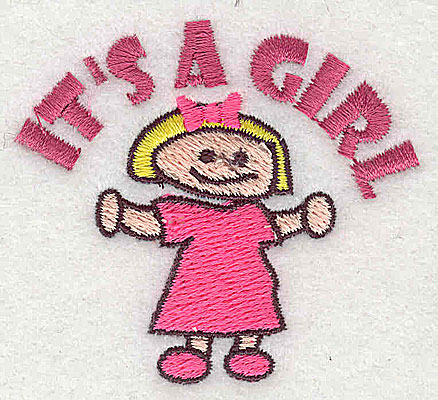 Embroidery Design: It's a Girl 2.31w X 2.13h