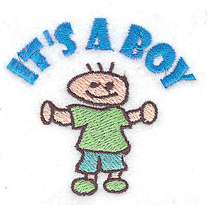 Embroidery Design: It's a Boy 2.25w X 2.06h