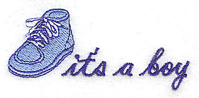 Embroidery Design: It's a Boy 3.00w X 1.38h