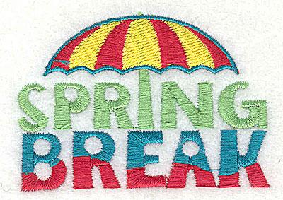 Embroidery Design: Spring Break 2.94w X 2.06h
