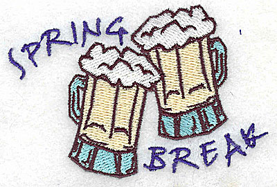 Embroidery Design: Spring Break 3.50w X 2.38h