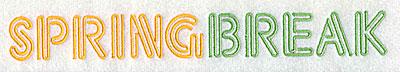 Embroidery Design: Spring Break 8.44w X 1.00h