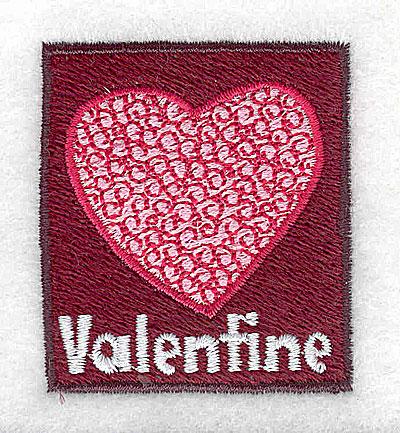 Embroidery Design: Valentine 1.81w X 2.00h