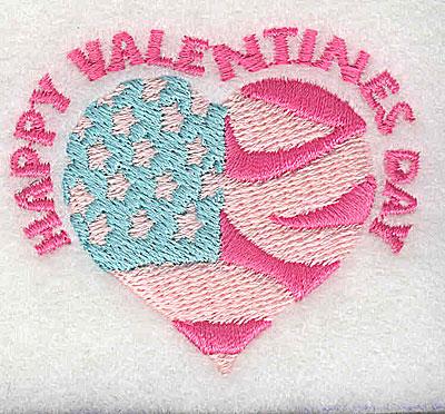 Embroidery Design: Happy Valentines Day 2.25w X 1.94h