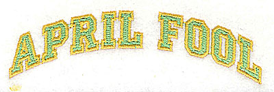 Embroidery Design: April Fool 4.00w X 1.13h
