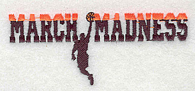 Embroidery Design: March Madness 3.50w X 1.44h