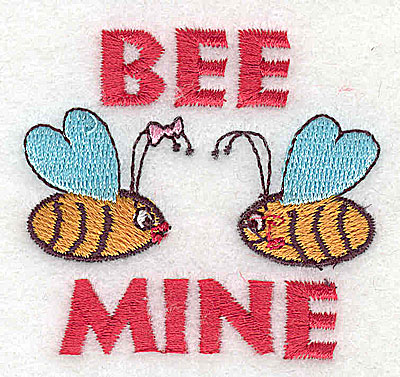 Embroidery Design: Bee Mine 2.38w X 2.06h