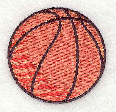 Embroidery Design: Basketball 2.00w X 1.94h