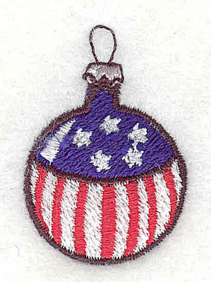 Embroidery Design: Christmas ornament stars and stripes 1.00w X 1.50h