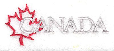 Embroidery Design: Canada 2.94w X 1.13h