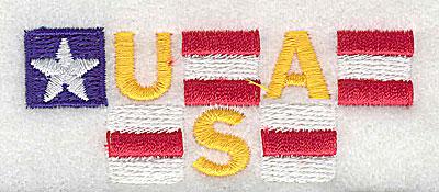 Embroidery Design: USA 3.00w X 1.19h
