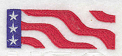 Embroidery Design: American stylized flag 2.94w X 1.44h