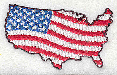 Embroidery Design: American flag - country 1.06w X 1.81h
