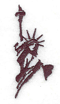 Embroidery Design: Statue of Liberty 1.06w X 2.50h