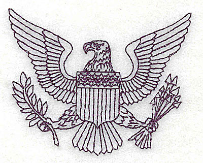 Embroidery Design: American Eagle  1.88w X 2.31h