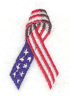 Embroidery Design: U.S.A. ribbon 1.00w X 1.69h
