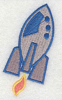Embroidery Design: Rocket ship 1.56w X 2.81h