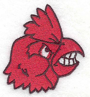 Embroidery Design: Cardinal head 1.19w X 2.50h