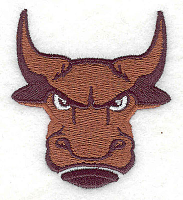 Embroidery Design: Bull head 2.19w X 2.44h