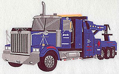 Embroidery Design: Truck 9.94w X 6.06h