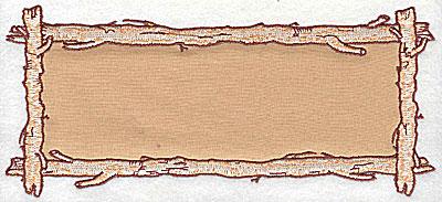 Embroidery Design: Birch frame horizontal 8.13w X 3.63h