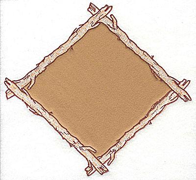 Embroidery Design: Birch frame  8.00w X 7.44h