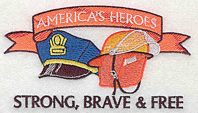 Embroidery Design: America's Heroes 4.50w X 2.50h